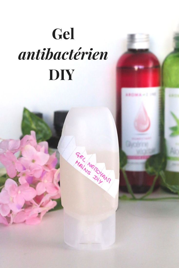 gel antibacterien diy pinterest